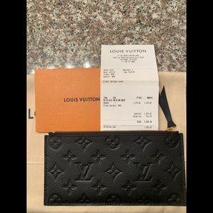 Authentic Louis Vuitton Empreinte Leather Wallet